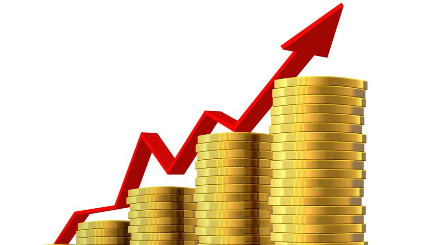 monete impiliate a creare quattro colonne in crescendo